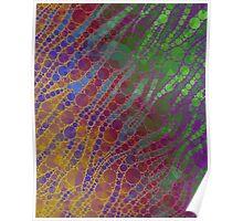 Rainbow Zebra Abstract Pattern  Poster