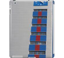 blue clock tower iPad Case/Skin