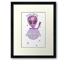 Alien queen- To the moon and back Framed Print