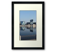 Modern Architecture of St. Petersburg reflected in water Framed Print