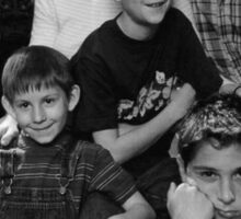 Malcolm in the Middle B&W photo Sticker