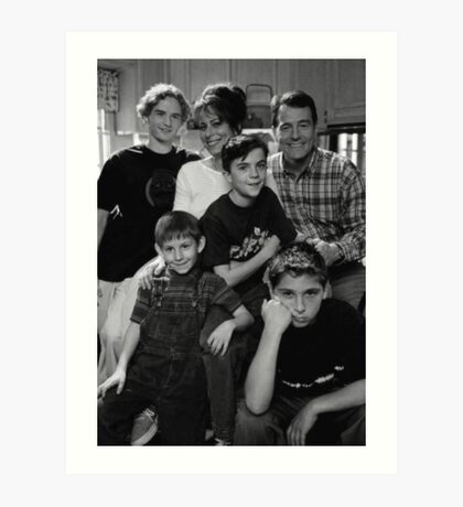 Malcolm in the Middle B&W photo Art Print