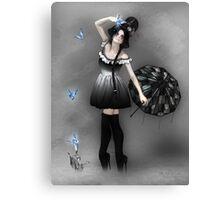 Blauer Schmetterling Canvas Print