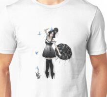 Blauer Schmetterling Unisex T-Shirt