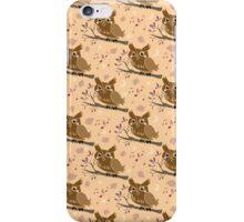 Singing Brown Owl Pattern iPhone Case/Skin