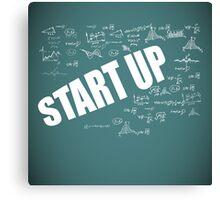 Start Up Fly Entrepreneur Sketchy Graphic T-shirt Design Canvas Print