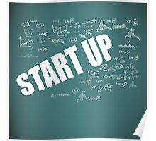 Start Up Fly Entrepreneur Sketchy Graphic T-shirt Design Poster