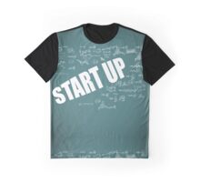 Start Up Fly Entrepreneur Sketchy Graphic T-shirt Design Graphic T-Shirt