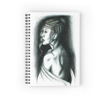 Woman drawing Spiral Notebook