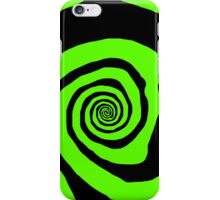 Mystery Spot (Green on Black) iPhone Case/Skin