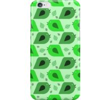 Bird Leaf Green Pattern iPhone Case/Skin