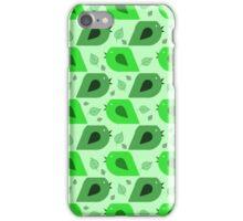 Bird Leaf Green Pattern iPhone Case/Skin