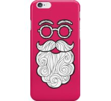 Hipster Pink Santa iPhone Case/Skin