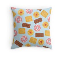 British Biscuits Throw Pillow