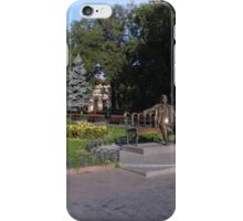 Utesov's sculpture on a bench in the park iPhone Case/Skin