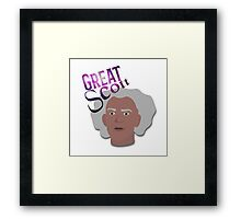 Great Scott! Framed Print