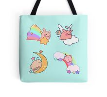 Four Rainbow Moon Pigs Tote Bag