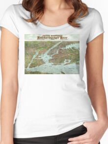 Panoramic view of New York City and vicinity - 1912 Women's Fitted Scoop T-Shirt