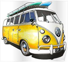 VW Bus Sunshiney day Poster