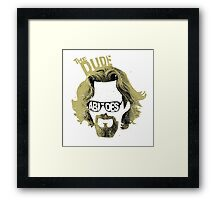 The Dude Abides The Big Lebowski Movie Quote Framed Print