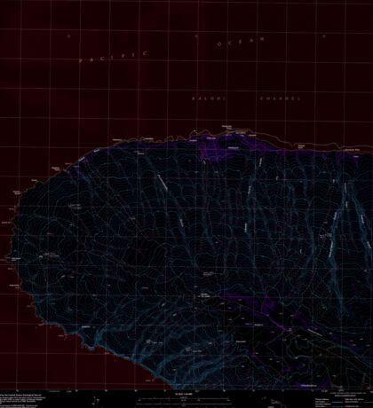 USGS TOPO Map Hawaii HI Garden Of The Gods 349226 1991 24000 Inverted Sticker