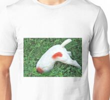 Doggy takes a header Unisex T-Shirt