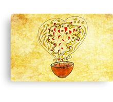 What my Tea says to me July 25, 2013 (landscape) Canvas Print