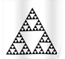 Sierpinski Triangle Fractal Math Art Poster
