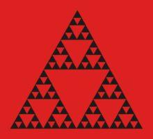 Sierpinski Triangle Fractal Math Art Kids Tee