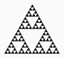 Sierpinski Triangle Fractal Math Art One Piece - Short Sleeve