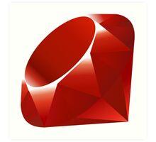 Ruby logo Art Print