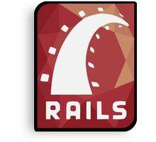 Ruby on Rails logo Canvas Print