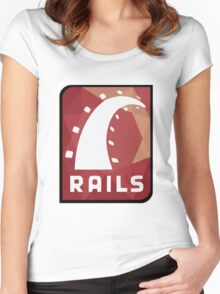 Ruby on Rails logo Women's Fitted Scoop T-Shirt