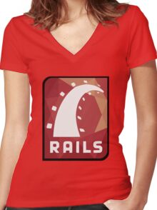 Ruby on Rails logo Women's Fitted V-Neck T-Shirt