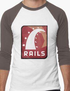 Ruby on Rails logo Men's Baseball ¾ T-Shirt