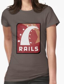 Ruby on Rails logo Womens Fitted T-Shirt