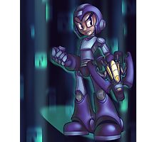 Blue Bomber - background Photographic Print