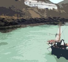 Boscastle (Cornwall) - Harbour - digital painting Sticker