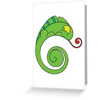 Cute chameleon Greeting Card