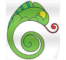 Cute chameleon Poster