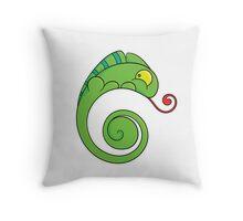 Cute chameleon Throw Pillow