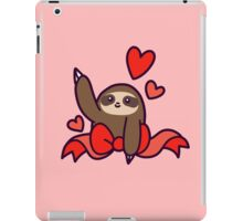 Ribbon Heart Sloth iPad Case/Skin