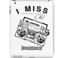 i miss this old boombox retro style vintage iPad Case/Skin