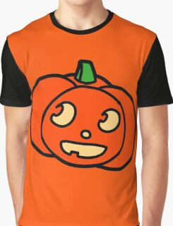 Cute Halloween Pumpkin Graphic T-Shirt