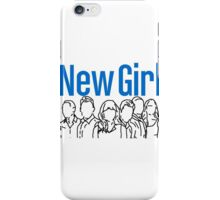 New Girl Outline with Logo iPhone Case/Skin