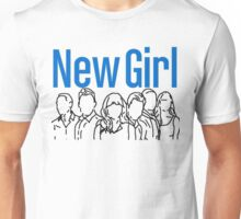 New Girl Outline with Logo Unisex T-Shirt