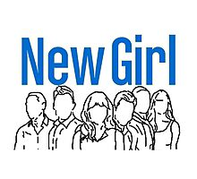 New Girl Outline with Logo Photographic Print
