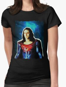 Nic Cage - Superman (Space) Womens Fitted T-Shirt
