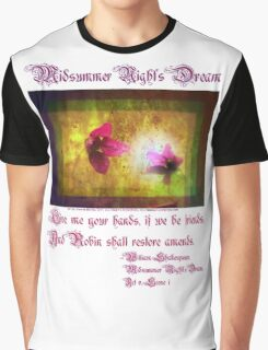 marriage of Titania; Salmon berry floral duet Graphic T-Shirt