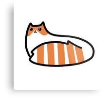 Striped Tail Kitty Metal Print